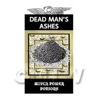 Dolls House Miniature Dead Mans Ashes Magic Label (S4)