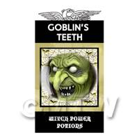Dolls House Miniature Goblins Teeth Magic Label (S4)