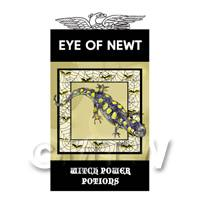 Dolls House Miniature Eye Of Newt Magic Label (S4)