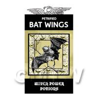 Dolls House Miniature Petrified Bats Wings Magic Label (S4)