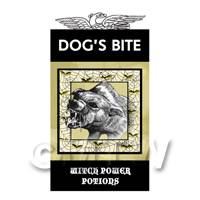 Dolls House Miniature Dogs Bite Magic Label (S4)