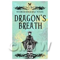 Dolls House Miniature Dragons Breath Magic Label (S5)