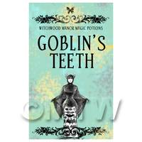 Dolls House Miniature Goblins Teeth Magic Label (S5)