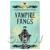 Dolls House Miniature Vampire Fangs Magic Label (S5)