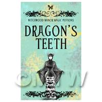 Dolls House Miniature Dragons Teeth Magic Label (S5)