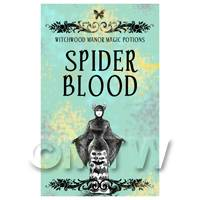 Dolls House Miniature Spider Blood Magic Label (S5)