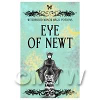 Dolls House Miniature Eye Of Newt Magic Label (S5)