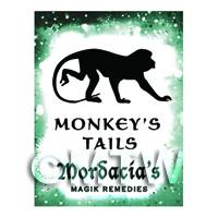 Dolls House Miniature Monkeys Tails Magic Label (S6)