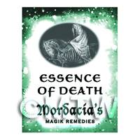 Dolls House Miniature Essence Of Death Magic Label (S6)