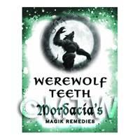 Dolls House Miniature Werewolf Teeth Magic Label (S6)