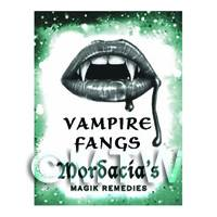 Dolls House Miniature Vampire Fangs Magic Label (S6)