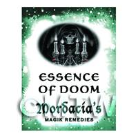 Dolls House Miniature Essence Of Doom Magic Label (S6)