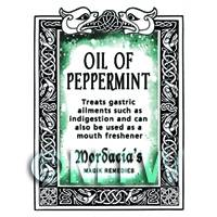 Dolls House Oil Of Peppermint Magic Potions Label (S7)