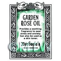 Dolls House Garden Rose Oil Magic Potions Label (S7)
