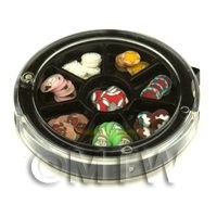 1/12th scale 80 Assorted Nail Art Christmas Slices In a Wheel Set 1