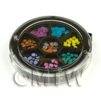 120 Assorted Nail Art Polker Dot Slices In a Wheel