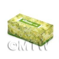 Dolls House Miniature Green Kleenex Tissue Box