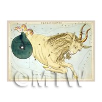 Dolls House Miniature 1820s Star Map Depicting Capricorn