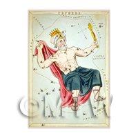 Dolls House Miniature 1820s Star Map Depicting Cepheus