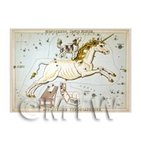 Dolls House Miniature 1820s Star Map Depicting Monoceros