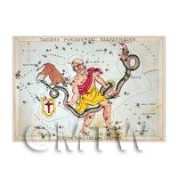 Dolls House Miniature 1820s Star Map Depicting Serpentarius