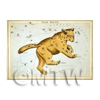 Dolls House Miniature 1820s Star Map Depicting Ursa Major