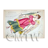 Dolls House Miniature 1820s Star Map Depicting Virgo