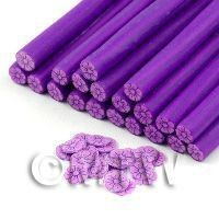 Handmade Mauve And Purple Flower Cane - Nail Art (11NC89)