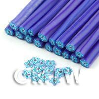 Handmade Blue Star Flower Cane - Nail Art (11NC91)