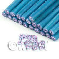 Handmade Pink And Blue Star Flower Cane - Nail Art (11NC92)