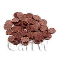 1/12th scale 50 Milk Chocolate Ripple Slices - Nail Art (11NS40)