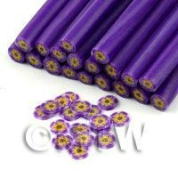 Handmade Purple And Yellow Flower Cane - Nail Art (11NC108)