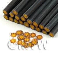 1/12th scale - Handmade Orange And Yellow Flower Cane - Nail Art (11NC110)