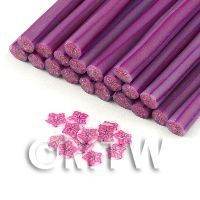 Handmade Red And Purple Star Glitter Flower Cane  (11NC94)