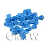 1/12th scale 50 All Sorts Blue Jelly Cane Slices - Nail Art (11NS42)