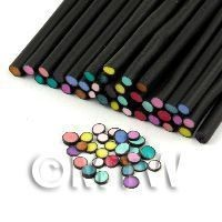 1/12th scale 35 Mixed Polka Dot Canes Black Outer (11NC20)