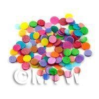 50 Mixed Colour Polka Dots - Nail Art (11NS16)