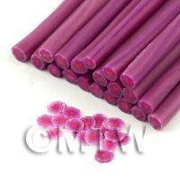 Handmade Red And Mauve Flower Cane - Nail Art (11NC95)