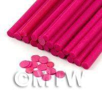 Handmade Dark Pink Polka Dot Cane - Nail Art (11NC23)