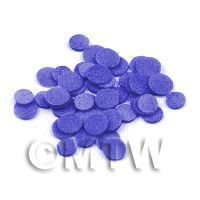50 Violet Blue Polka Dot Cane Slices - Nail Art (11NS21)