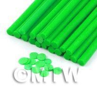 1/12th scale 1 Light Green Polka Dot Cane - Nail Art (11NC27)