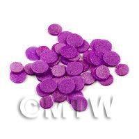 50 Purple Polka Dot Cane Slices - Nail Art (11NS25)