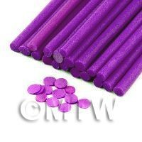1/12th scale 1 Purple Polka Dot Cane - Nail Art (11NC30)