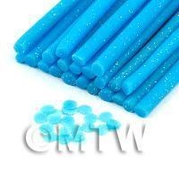 Handmade Light Blue Polka Dot Cane - Nail Art (11NC24)