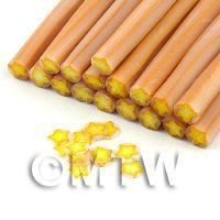 1/12th scale Handmade Yellow Christmas Star Cane  - Nail Art (11NC08)