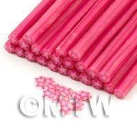 Handmade Pink Christmas Star Cane  - Nail Art (11NC09)
