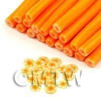 Handmade Transparent Orange Flower Cane - Nail Art (11NC97)