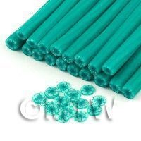 1/12th scale Handmade Transparent Sea Green Flower Cane - Nail Art (11NC99)