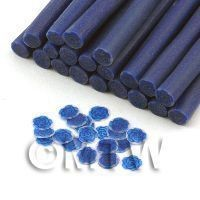 1/12th scale Handmade Dark Blue Rose Cane With Glitter - Nail Art (11NC61)