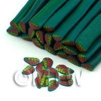 1/12th scale Handmade Red, Yellow And Green Leaf Cane - Nail Art (11NC81)
